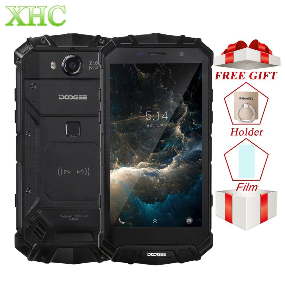 IP68 DOOGEE S60 Carica Senza Fili 5580 mah Del Telefono Mobile Helio P25 Octa Core 1920*1080 FHD Smartphone 21MP Macchina Fotografica 6 gb + 64 gb Cellulare
