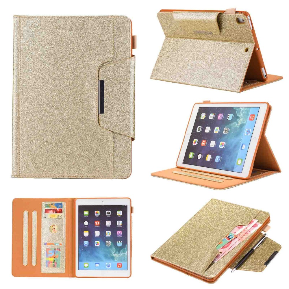 BINUODA For Funda iPad Pro 9.7 Tablet Case Stylish Book Style PU Leather TPU Kickstand Protective Cover for iPad Pro9.7 Capa