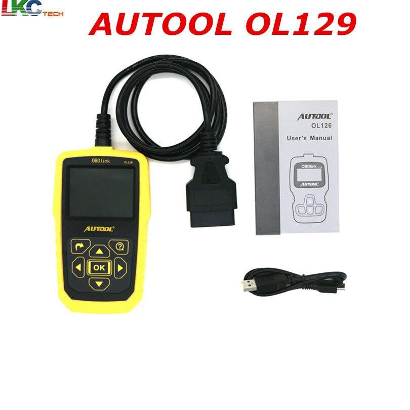 цена на 2018 AUTOOL OL129 OBD/OBD2 Code Scanner Battery Monitor Diagnostic-Tool OBD2 Interface Live Data Stream CAN Universal Tool