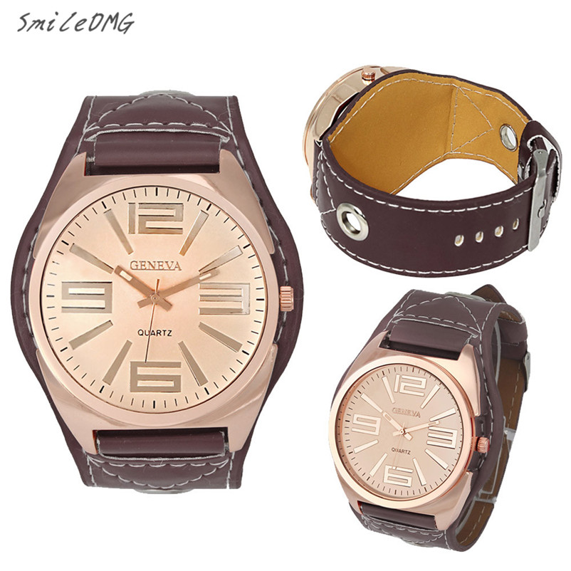 SmileOMG New Fashion Women Geneva Faux Leather Analog Quartz Wrist Watch Christmas Gift ,Sep 19