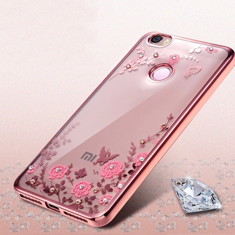 luxury soft tpu phone back cover case for Xiaomi Mi5 Mi5S Mi6 Redmi 3S For Xiaomi Redmi Note 4