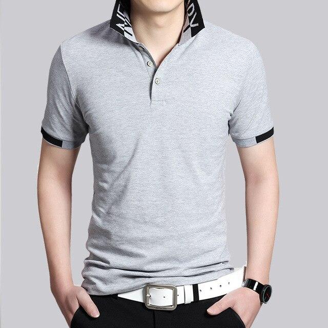 2017 Новые Мужские Классические Твердые Коротким Рукавом Polo Рубашки Вскользь Дышащий Рубашки Мужские Hommes Поло Camisa Поло