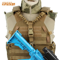 Spanker Tactical Gun Sling Swivel Adjustable Bungee Safety Rope Rifle Gun Sling Strap For Airsoft Hunting