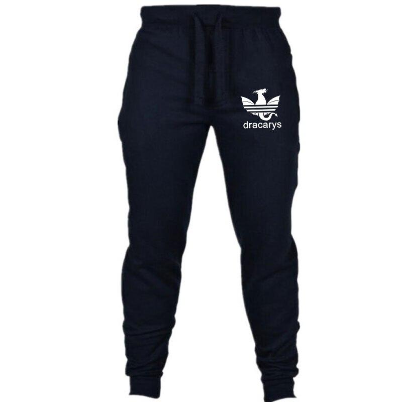 Лучший!  Мужские хлопчатобумажные полные брюки повседневные эластичные мужские спортивные тренировочные бр