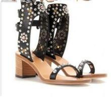 LoneLinecc Rome Style High Heel Women Gladiator Sandals 4 Colors Studded Rivets Rhinestone Sandale Femme Pumps Native Shoes недорго, оригинальная цена