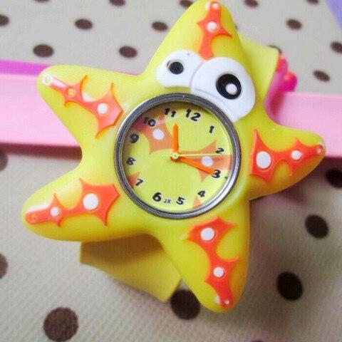 HOT Sale watches 3D Kid Cartoon watches Starfish children sports High quality slap wristwatch Karachi