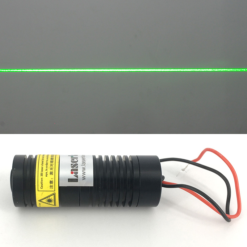 цена на 40*89mm 100mW 532nm Green Line Laser Module with Glass Lens