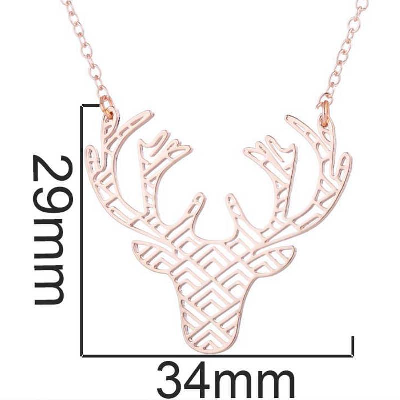Yiustar Süße Neue Mode Charming Elegante Deer Halskette Anhänger Tier Studs Für Frauen Mädchen Feiern Absolvent Perfekte Schmuck