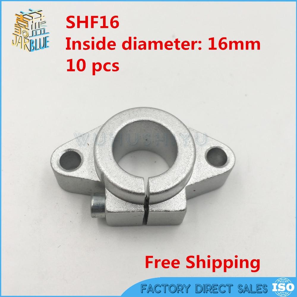 2pcs CNC linear slide guide Cylinder shaft 16mm rod bearing Support SHF16 table