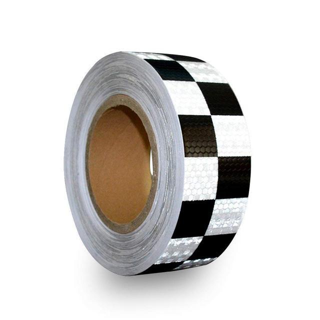 MyHung Hazard checkered reflective Caution Warning Tape Square Types 5cm*5m 1 PCS
