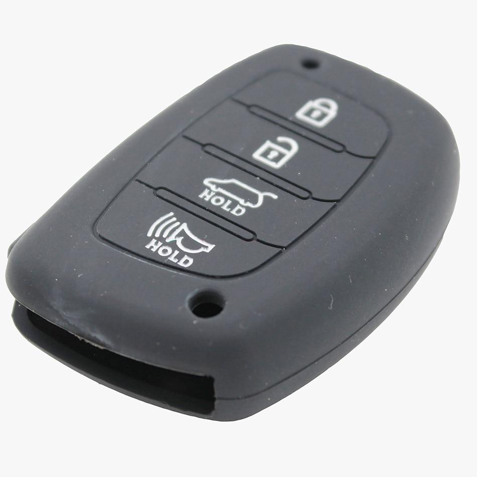 1 stks 4 Knoppen Siliconen Autosleutel Case Cover voor Hyundai Mistra - Auto-interieur accessoires - Foto 4