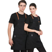 2019 New Fashion Adjustable Work Apron Cooking Kitchen Apron For Woman man bib unisex Waiter Cafe Shop BBQ pinafore