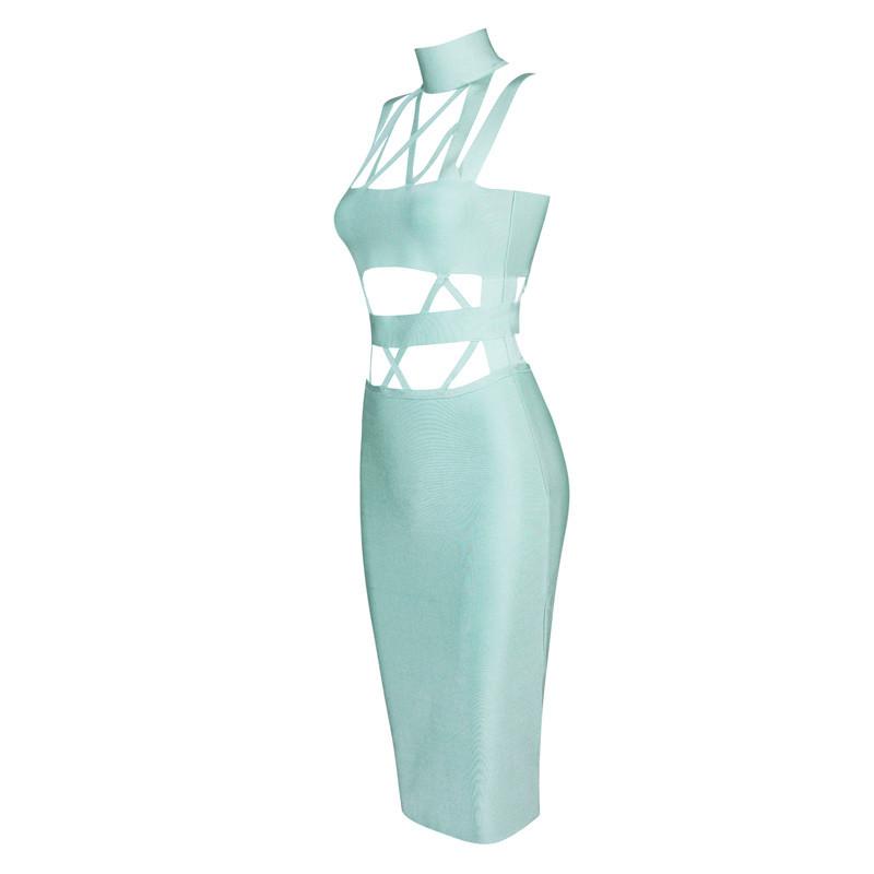 Cut Out Bandage Bodycon Dress