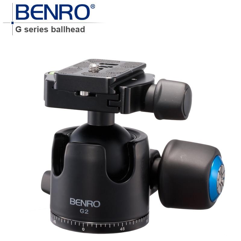 BENRO G Series Low-Porfile BallHead Professional Ball heads G2 Aluminum Ball Head For Tripod Pu70 Quick Release Free Shipping benro pu 60 black