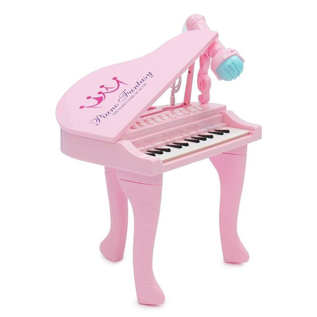 2 Colors 25Keys Keyboard Toy Electronic Organ Kids Piano Microphone Musical Instrument Playing Toy Set Children Gifts USBLearning & Education