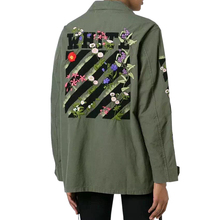 2017 New Spring Women Embroidery Army Green Jacket Long Sleeve Flower Appliques Single Breasted Basic Coats Chaquetas Mujer