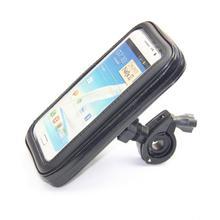 Bicycle Bike Motorcycle Cell Mobile Phone Holder Waterproof Case Bag Mount Bracket Handlebar Clip Stand 360