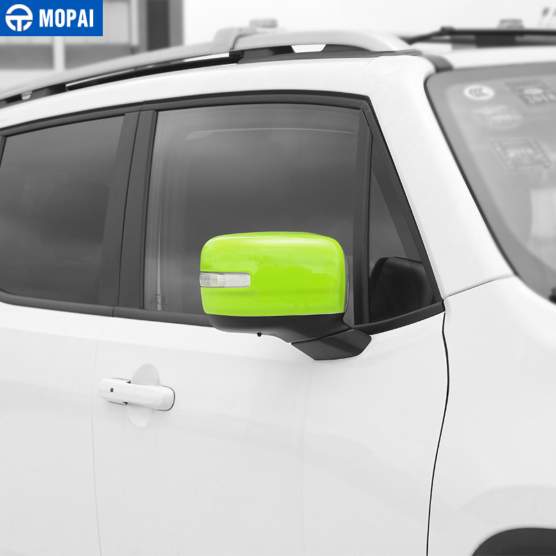 Image 2 - MOPAI Car Rearview Mirror Decoration Cover Stickers for Jeep Renegade 2015 Up Exterior Rear View Mirror Accessories Car Styling-in Mirror & Covers from Automobiles & Motorcycles