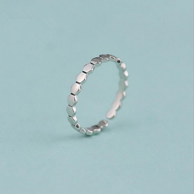 925 Sterling Silver Minimalist Hexagonal Link Accessories Female Wild Jewelry Op