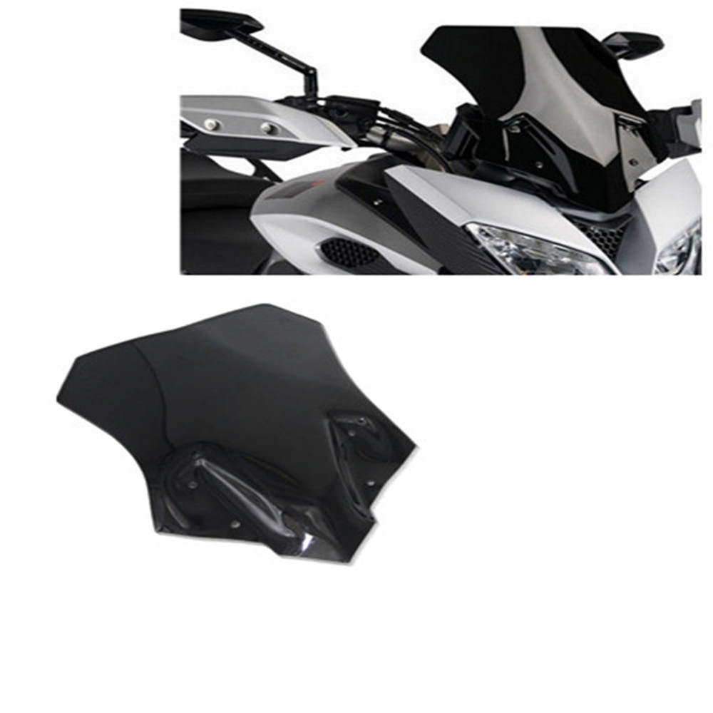 Motorcycle Black Motorcycle Windshield WindScreen For YAMAHA MT-09 MT 09 Tracer Double Bubble