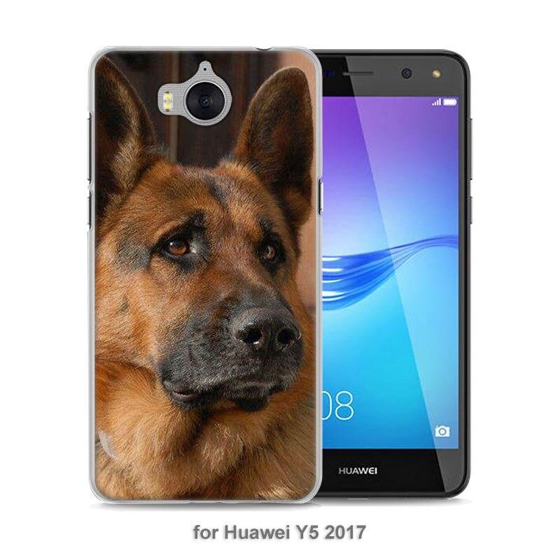 Mougol Лидер продаж Соболь немецкая овчарка щенок Стиль тонкий прозрачный чехол для телефона Huawei Y3 Y5 2017 Y6 II Y6 Pro honor 8 Lite G7