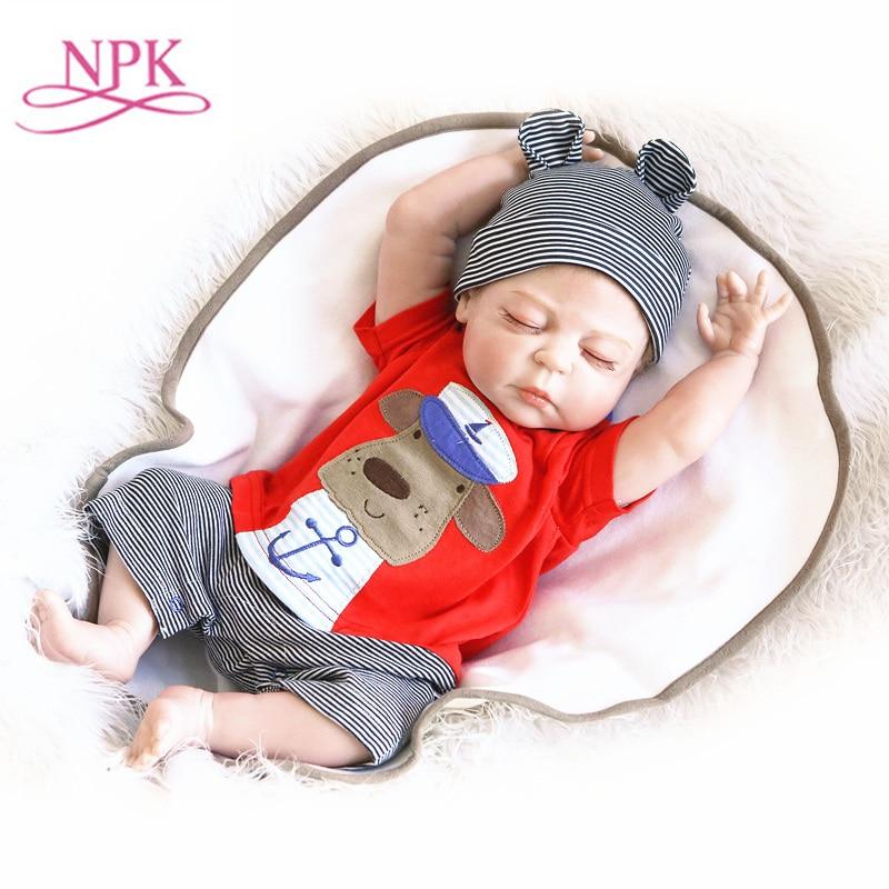где купить NPK 56cm full body silicone reborn babies doll realistic newborn babes dolls Bonecas Bebe reborn Menina dolls toy дешево