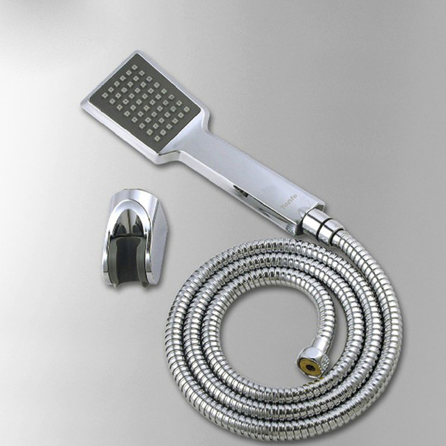 ABS Square Handheld Shower Head + ABS Holder + Stainless Steel ...