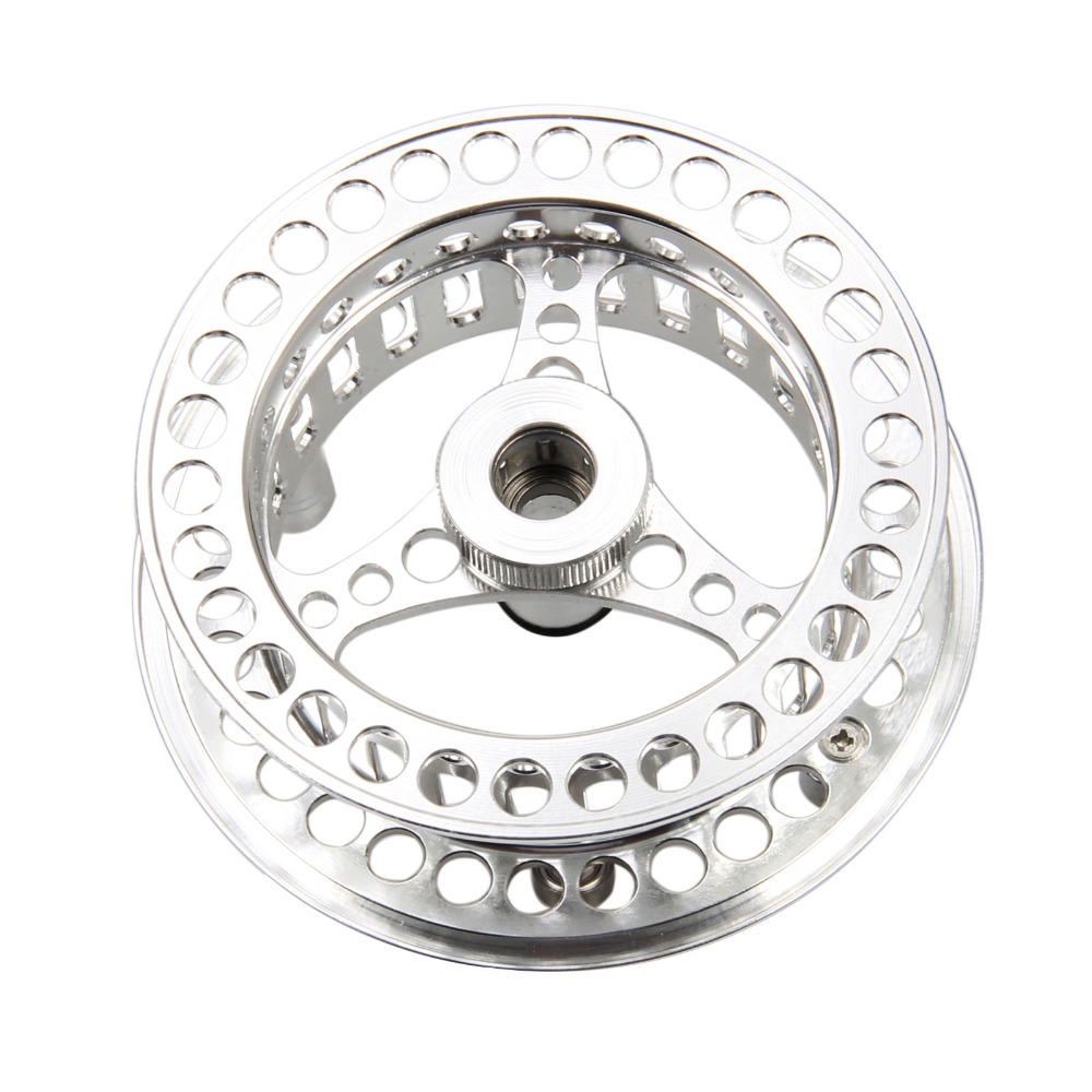 3/4 5/6 7/8 9 / 10WT CNC Machined Fly Reel Silver Large Arbor - Fiskeri - Foto 6