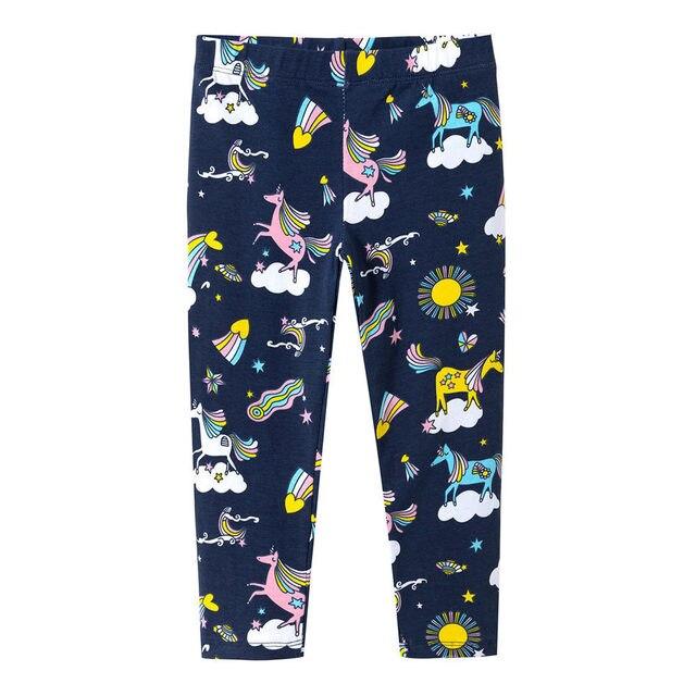 1ce645fc5 Littlemandy Unicorn Rainbow Printed Baby Girls Leggings Animal Kids 100%  Cotton 2018 Brand Children Trousers Pants Clothes New
