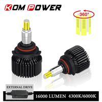 KOM POWER 3D 360° Full Light Car Headlamp Led 9006 HB4 4300K 6000K Head Lamp Diode 9005 HB3 H1 H11 H7 H8 H9 9012 HIR2 16000LM