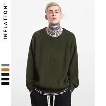 INFLATION 2017 Neue Pullover Übergroßen männer Winter Mode Pullover Gestrickte Oansatz Normallack Beiläufige Männer Pullover 201W17