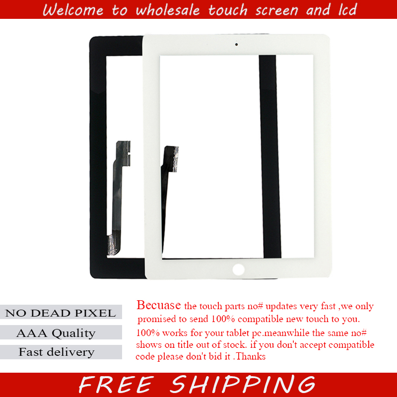 Black & white 1 piece free shipping lcd glass with flex cable for iPad 4 touch digitizer + home button + sticker 1 pcs for iphone 4s lcd display touch screen digitizer glass frame white black color free shipping free tools