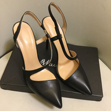 High quality real leather pointed toe high heeled pumps Fashion womens shoes Chic party EU35-41 SIZE BY658