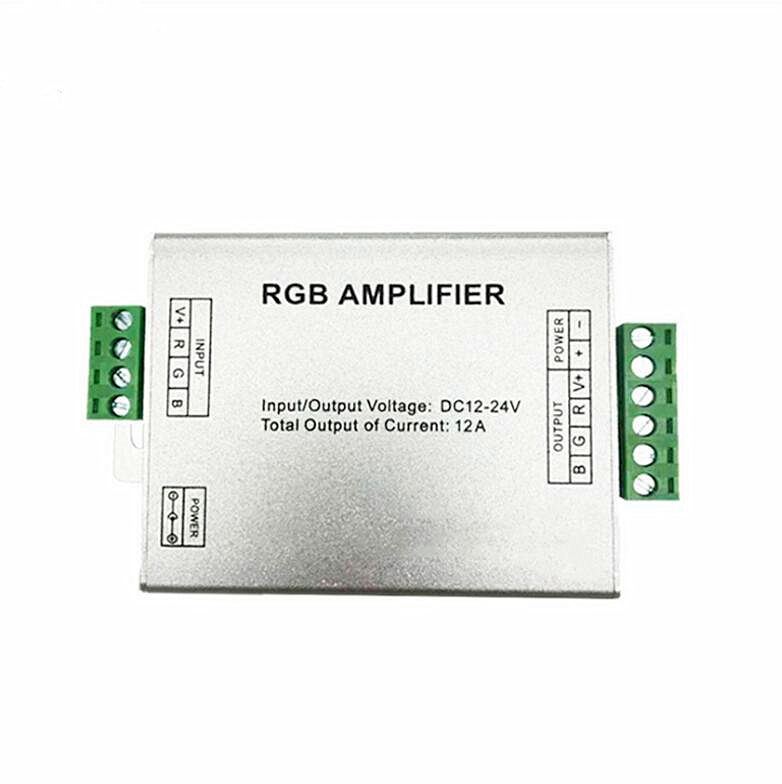 12A RGB Light Aluminum Amplifier Accepted PWM LED Lighting Suitable LED Strip Many Lines Application