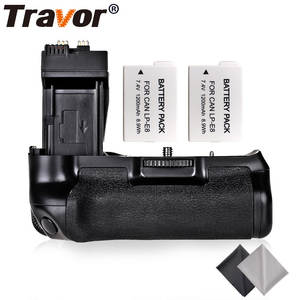 Travor Professional Battery Grip For Canon EOS 550D 600D Rebel T2i T3i T5i T4i DSLR Cameras as BG-E8+2pcs LP-E8+2pcs Lens Cloth
