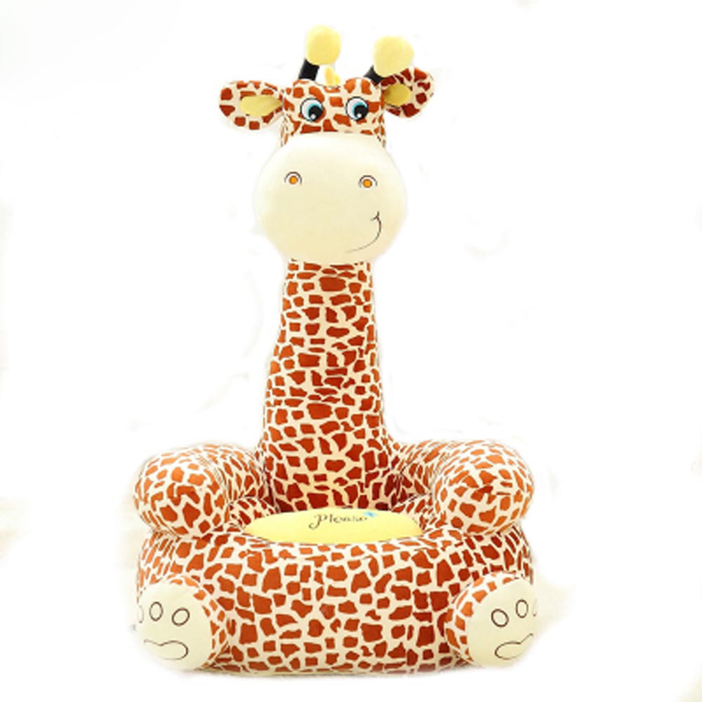 Sofa Baby Seat Beanbag Cartoon Kawaii Cute Giraffe Children Sofa for Kids Sleeping Bed Baby Nest Puff Chair Bean Bag Plush Toys baby anti rollover safety seat portable waist stool children small sofa cartoon plush nursing feeding pillow learn to sit sofa