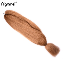 Aigemei Hair High Temperature Fiber Synthetic Crochet Extension 57g 48inch 4piece Braiding
