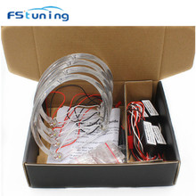 FStuning CCFL Angel Eyes Headlight Kit For BMW 3Series E46 Coupe/Sedan 5W White Yellow 131mm led halo rings angel eyes for BMW стоимость