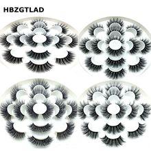 Hbzgtlad новые 1/7 пар искусственный 5D норки ресницы натуральные длинные накладные ресницы драматический объем Накладные ресницы макияж удлинение ресниц