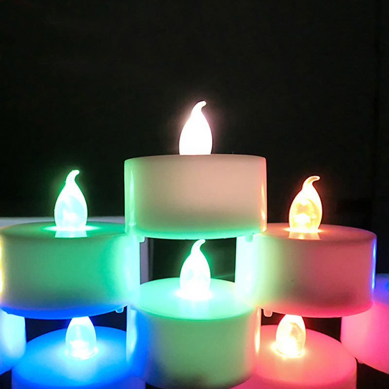 Proposal Candle Lamp Flameless Yellow Flicker Light Wireless Wedding Party Supplies Electronic Flash Small LED Candles