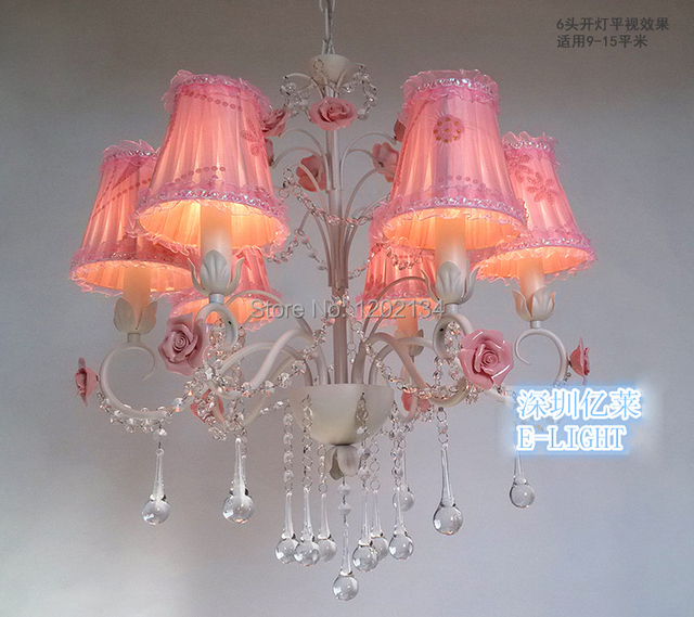 New design 6 lamp quality k9 crystal Pure white chandeliers lamp+ ...