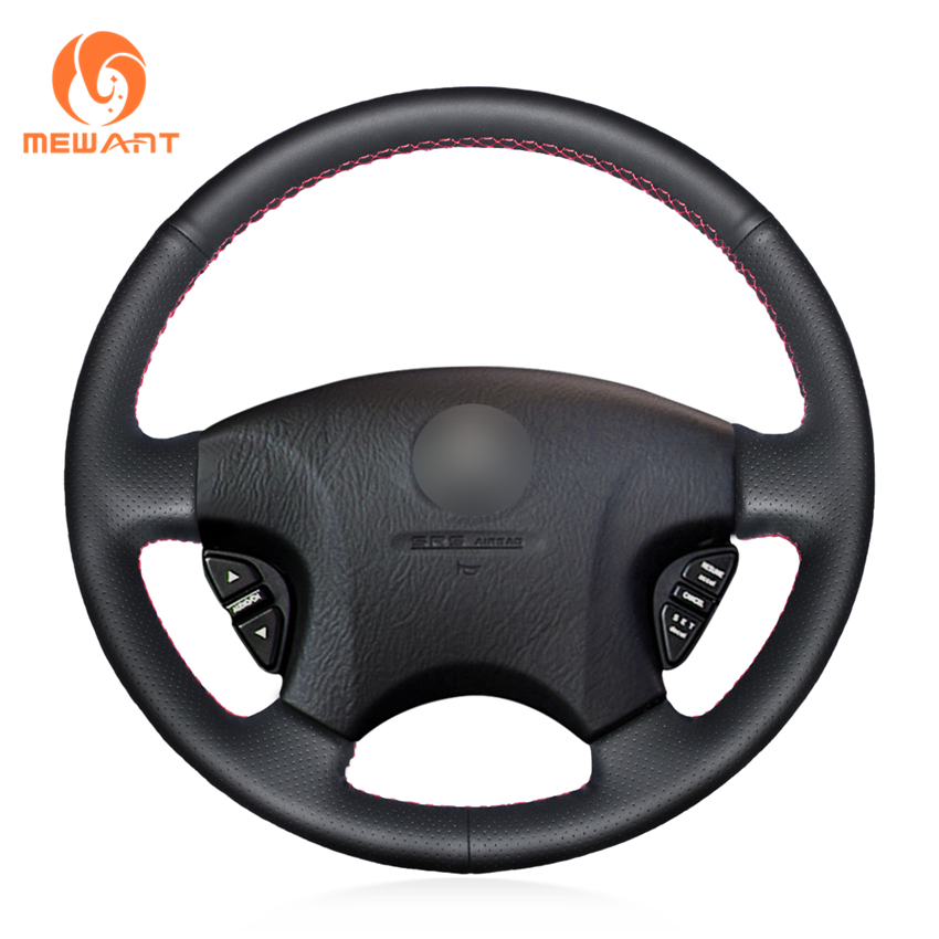 MEWANT Black Artificial Leather Steering Wheel Cover for Acura CL 1998-2003 MDX 2001-2002 Honda Accord 6 1998- 2002 Odyssey mewant black artificial leather steering wheel cover for acura cl 1998 2003 mdx 2001 2002 honda accord 6 1998 2002 odyssey