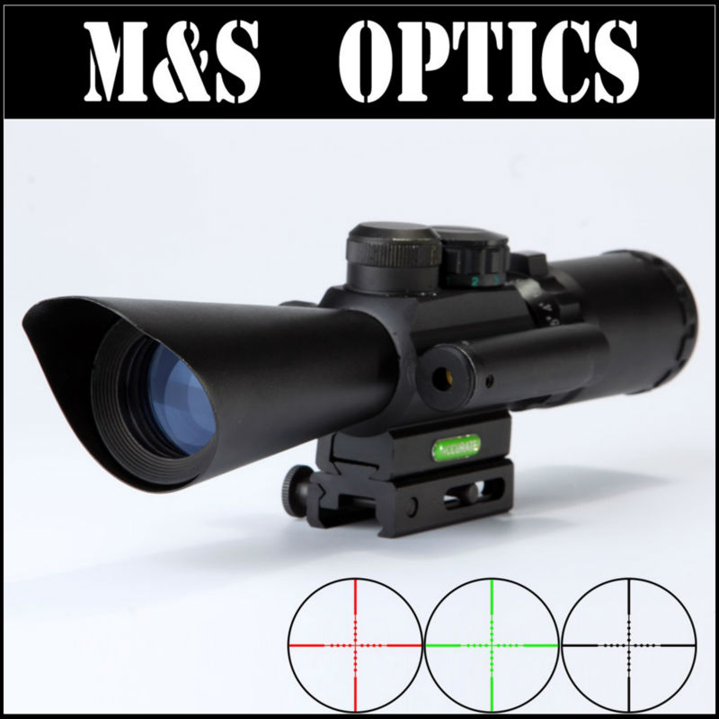 M8 LS 3.5-10X40E Red Greed Illuminated With Integrated Red Laser Hunting Riflescopes for Airsoft Air Guns Made In China mukhzeer mohamad shahimin and kang nan khor integrated waveguide for biosensor application