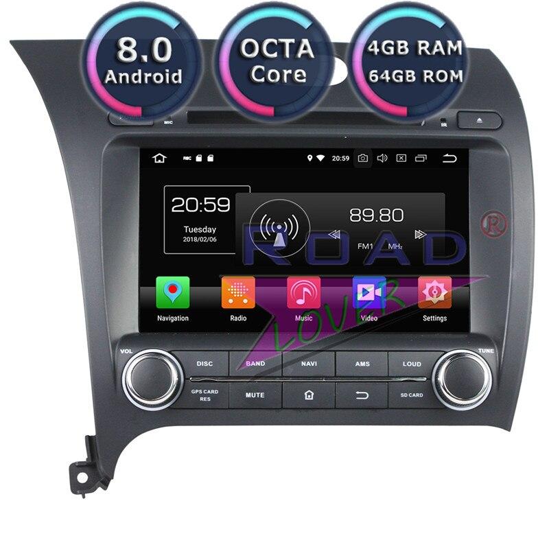 Roadlover Android 8,0 автомобильный DVD/CD плеер авторадио для KIA Cerato K3 Форте 2013 стерео gps навигации Magnitol 2Din Восьмиядерный MP3