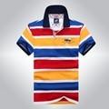 2016 algodón para hombre camisa de polo de calidad superior marcas de rayas shark hombre polo camisa, camisa de polo de manga corta marca tiburones camisas 912