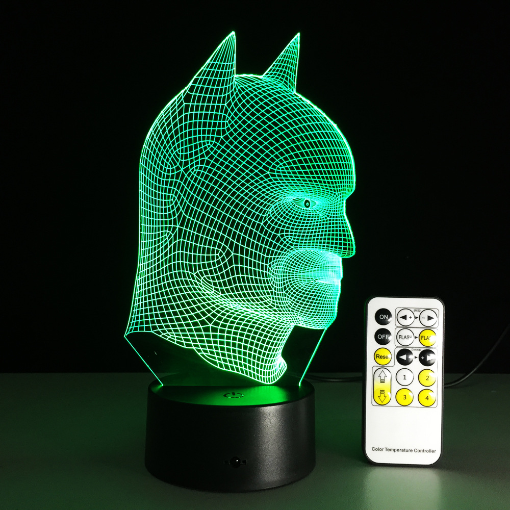 Remote Toutch Switch Batman 3D Night Light RGB Changeable Mood Lamp LED Light  Powerbank 3d Lamp