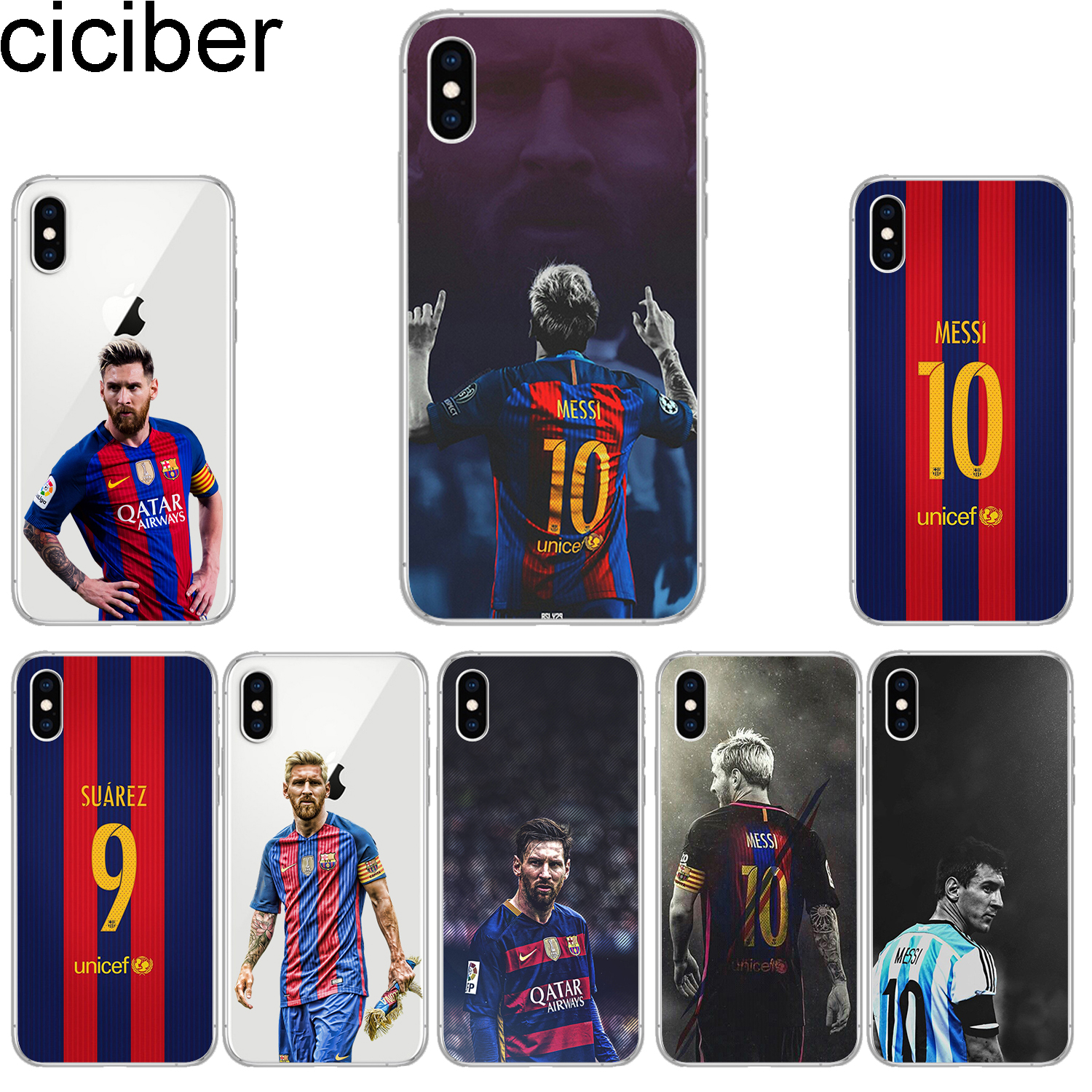 0bce27a5f74 ciciber Phone Cases for iPhone 8 7 6 6s Plus SE 5s Soft TPU Back Cover for  iPhone X Xs XR XS Max Case Messi Coque Capa Fundas