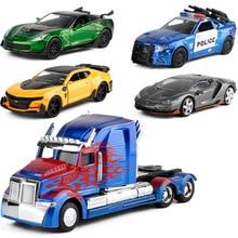 Купить с кэшбэком Jada1:32 High Simulation Diecast Alloy Model Transformation Car Models Yellow Bee Crosshair Children Vehicle Toys Gifts
