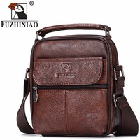 FUZHINIAO Genuine Leather Men Messenger Bag Hot Sale Male Small Man Fashion Crossbody Shoulder Bags Men