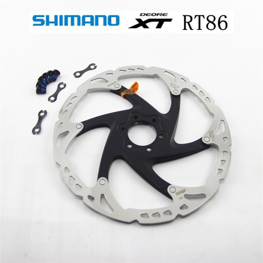 SHIMANO XT RT86 RT76 pointe de glace technologie disque de frein 6 boulon M8000 vtt vélo frein à disque SHIMANO RT86 160 MM 180 MM 203 MM